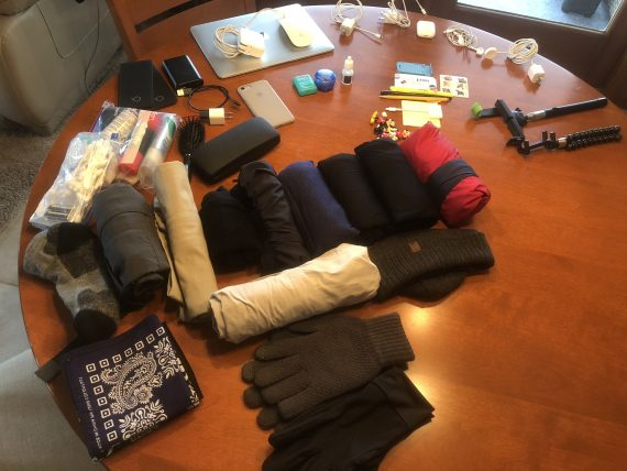 packing for Galcier
