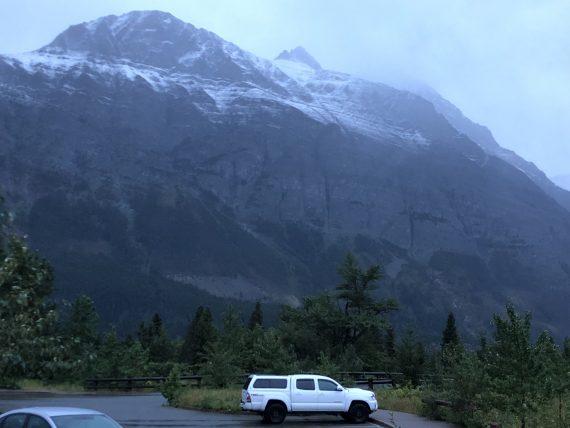 Glacier's first Summer snow 2018