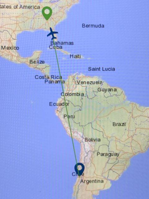 Delta flight map
