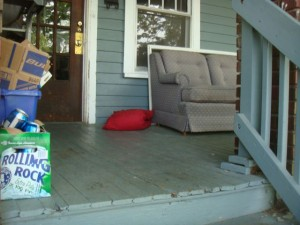 College Life: Sofa, Beer & A Porch