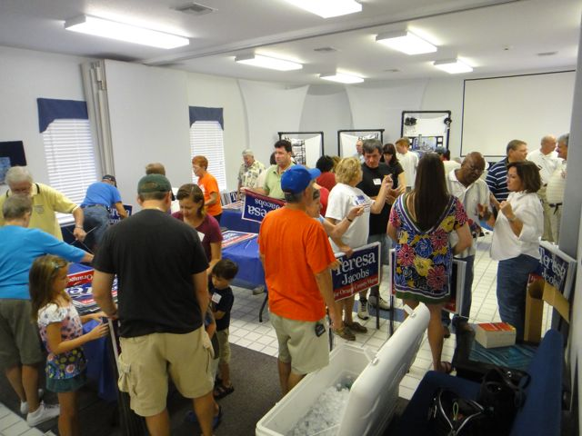 Over 100 People Came To Construct Campaign Signs