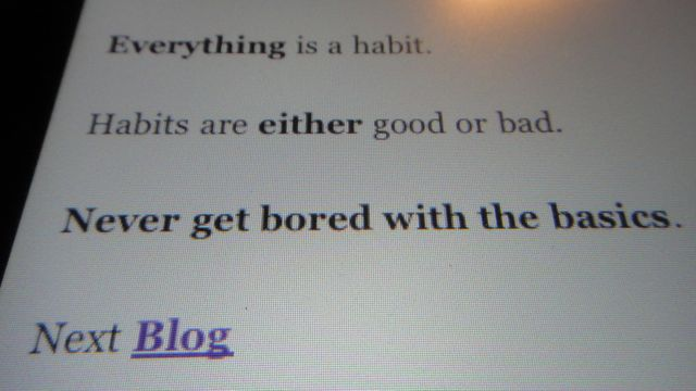 "Always On The Lower Left, Click ""Blog"""