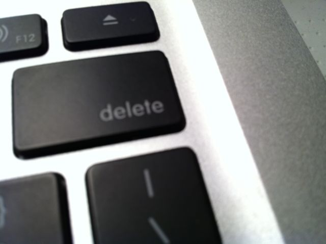 "Intuition Was Whispering, ""Delete"""