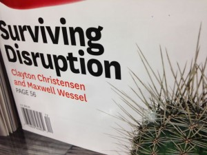 "photo of magazine headline ""Surviving Disruption"""