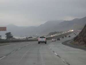 evening photo of Pacific Coast Highway heading north