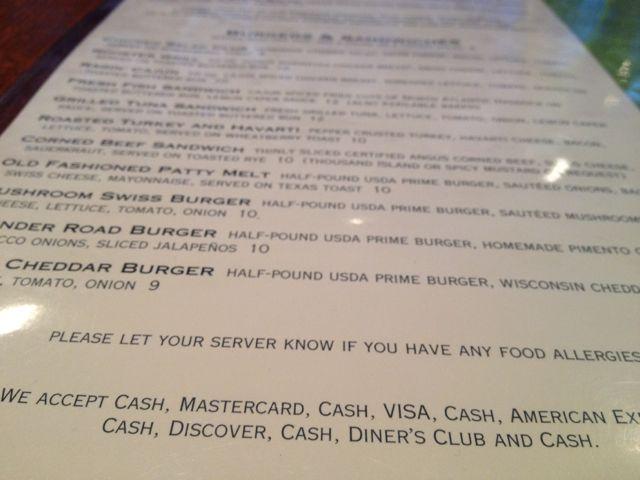 photo f clever restaurant menu payment methods