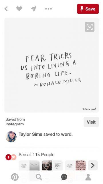 Screen shot from Pinterest
