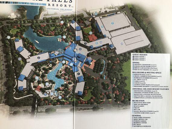 Universal Shappire Falls resort map