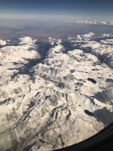 Grand Tetons from Jet