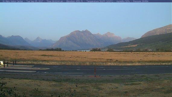 St Mary Glacier webcam