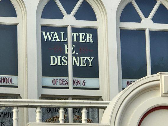 Walt Disney window at Magic Kingdom