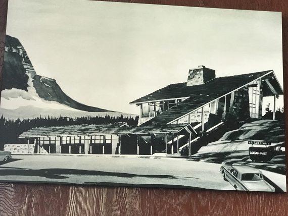 Logan Pass Visitor Center artist rendering