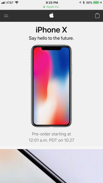Ordering iPhone X opening day