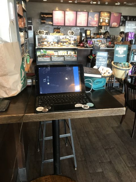 Laptop at Starbucks