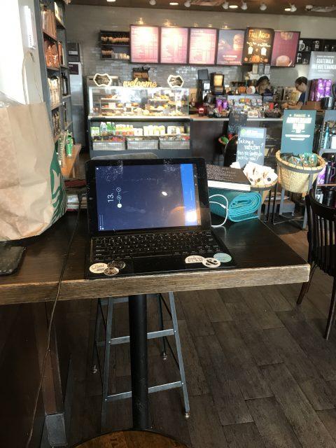 Laptop at Starbucks