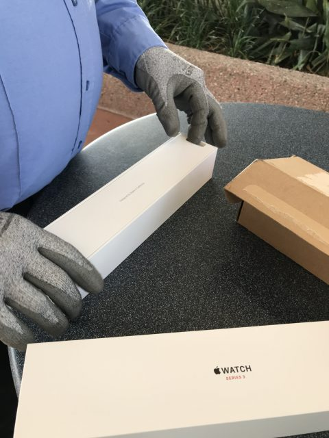 Opening Apple Watch 3 box