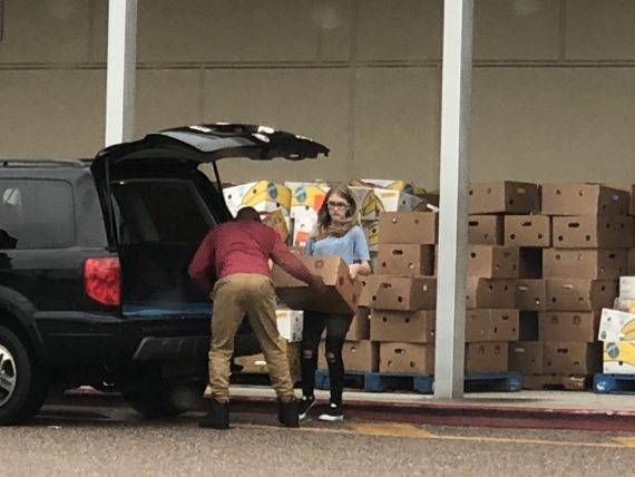 delivering food for families
