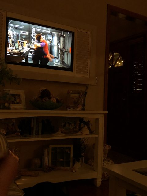 Family room television