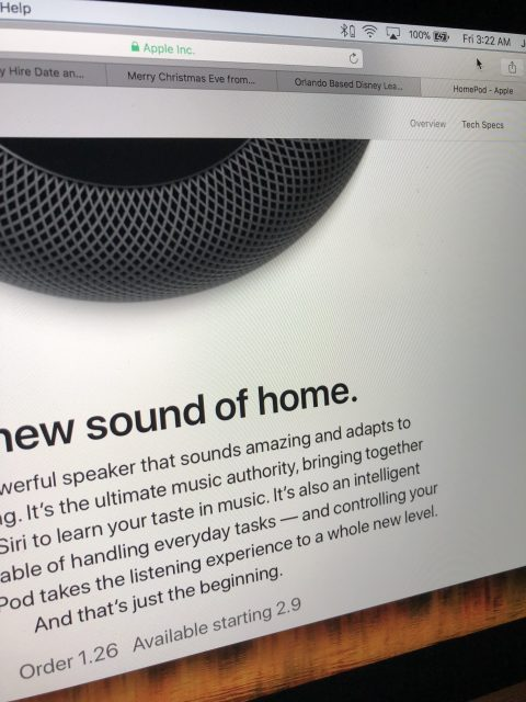 Ordering HomePods
