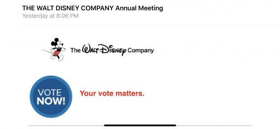 Disney shareholder proxy vote
