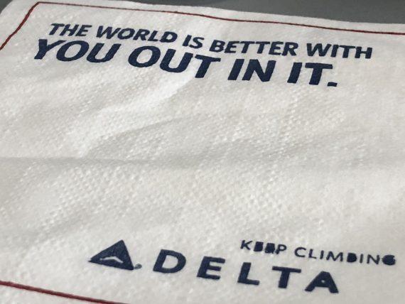 Delta airlines napkin