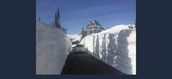 Glacier National Park snow plowing