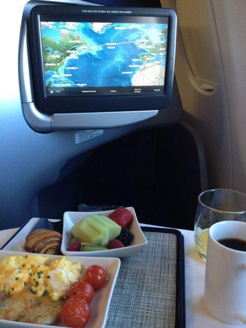 first class breakfast