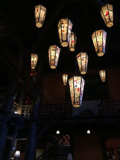 Lake McDonald Lodge lanterns
