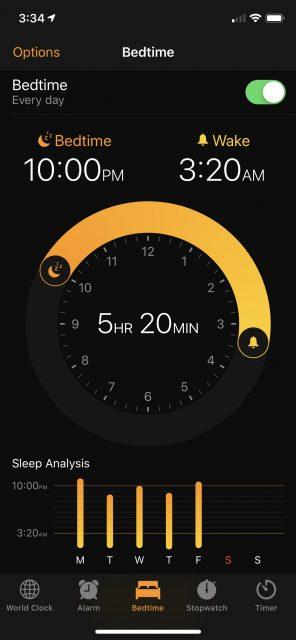 sleep timer on iPhone