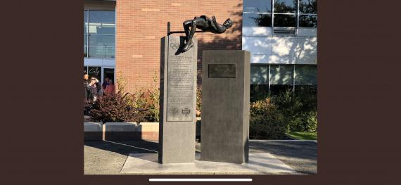 fosbury flop statue