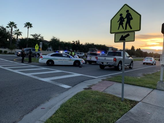 pedestrian struck by car near Disney