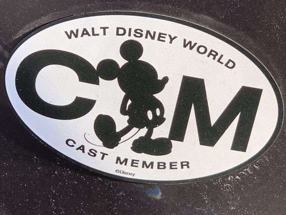 Disney Cast Member car sticker