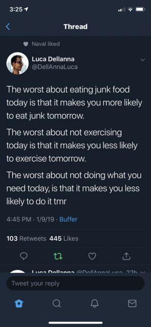 excuses, habits, rituals