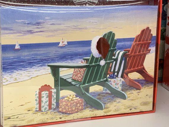 Beach themed christmas cards
