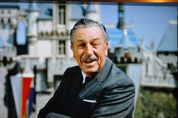 Walt Disney by Sleeping Beauty Castle