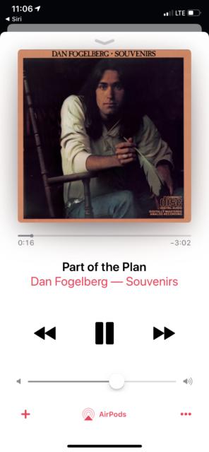 Dan Fogelberg Souvenirs album cover