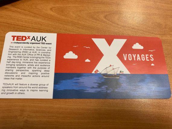 TEXxAUK VIP ticket sample 2019
