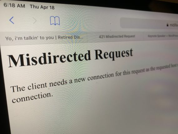 misdirected request