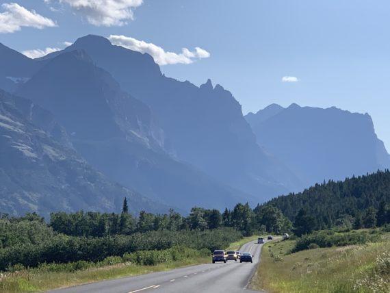 Glacier National Park road
