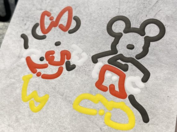 Minnie and Mickey print t-shirt design