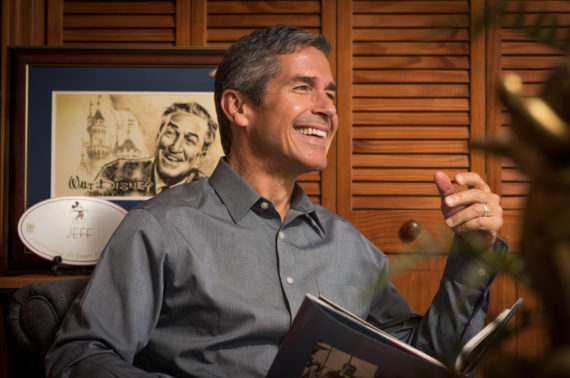 Disney speaker jeff noel in his home office