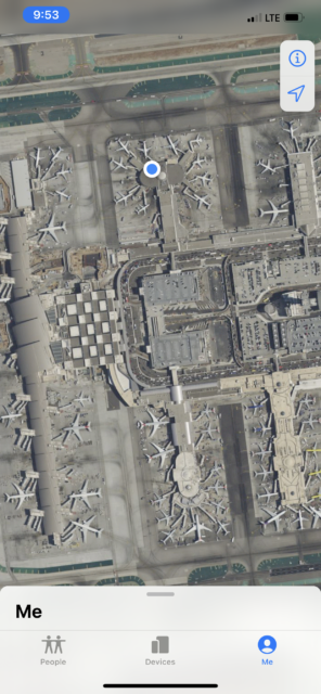 ariel view of LAX airport