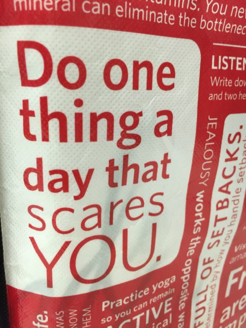 sign saying do something everyday that scares you