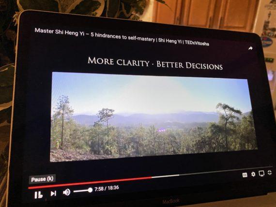 TED talk title slide for Master She Heng Yi