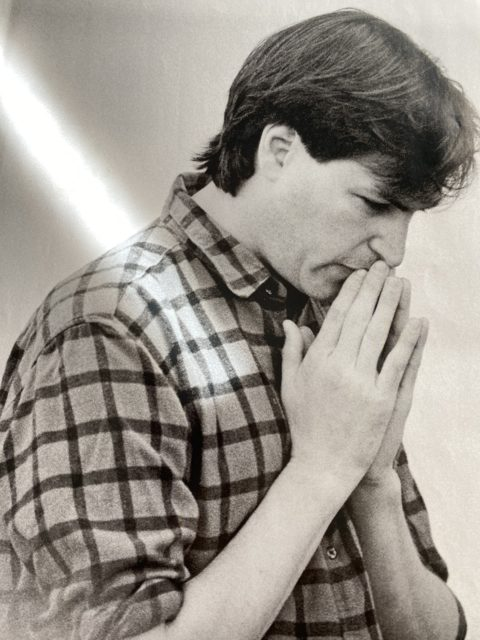 Young Steve Jobs in deep thought