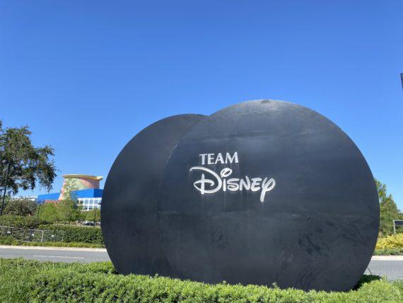 Team Disney sign