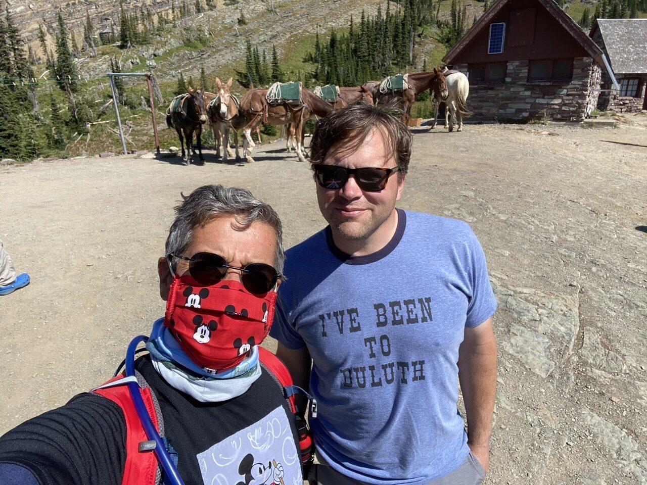 Jeff noel and Jody Maberry in Glacier Park