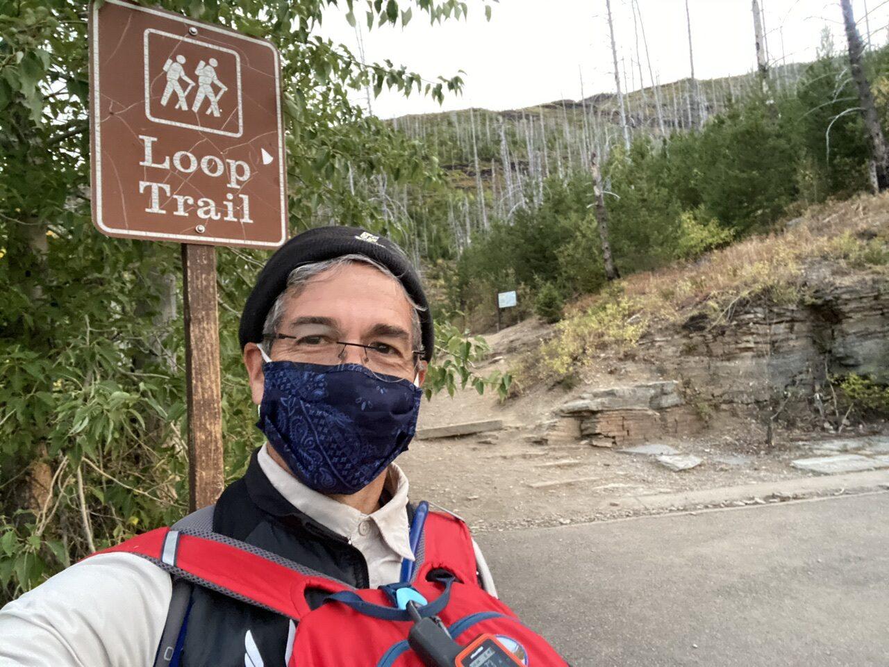 jeff noel at Loop trail trailhead