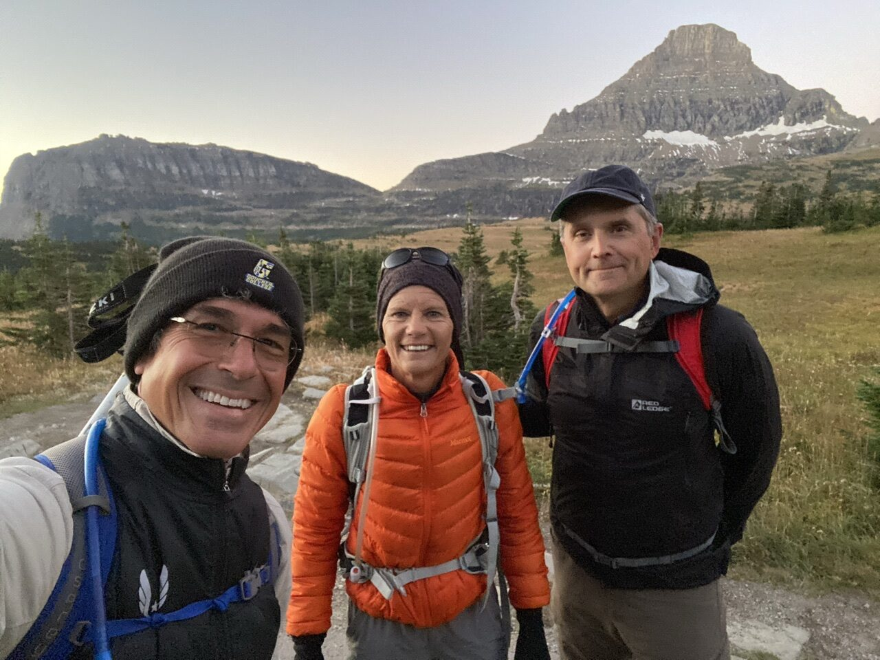 3 hikers in mountains