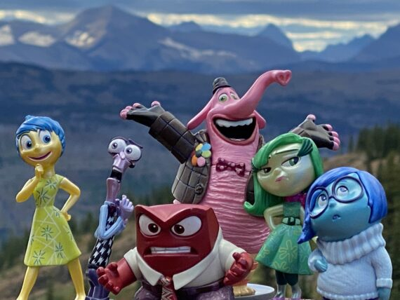 Disney Pixar toy characters in mountains